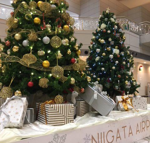 新潟空港のクリスマス♪