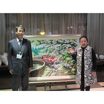 台湾 嘉義県知事から新潟空港への絵画贈呈式が行われました